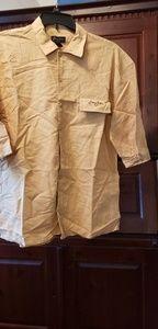 Mens tan short sleeve shirt
